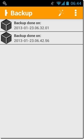 Orange-Backup-Android-Home