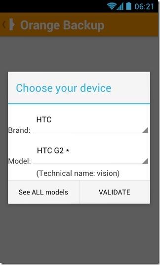 Orange-Backup-Android-Model