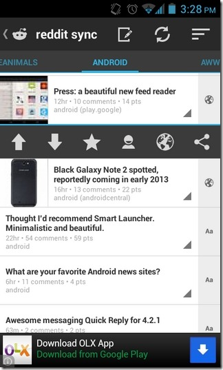 Reddit-Sync-Android-Home