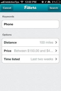 SellSimple iOS Filters