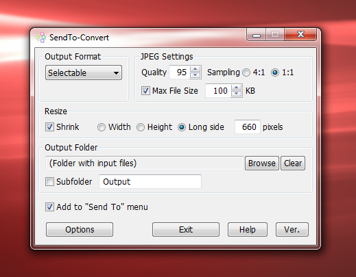 SendTo-Convert Profile