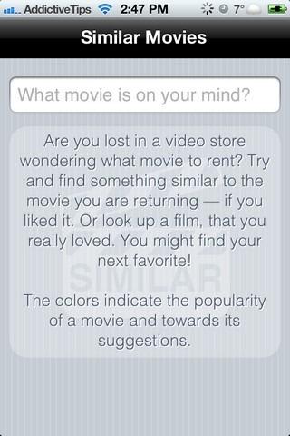Similar Movies iOS Home