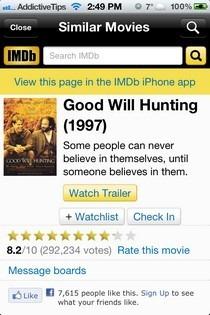 Similar Movies iOS iMDB