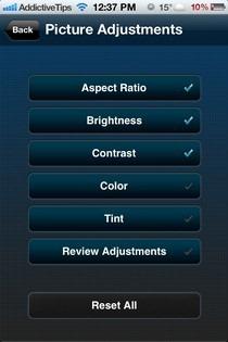 THX tune-up iOS Adjustments
