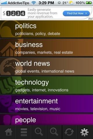 TLDR Reader iOS Home