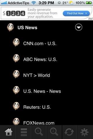 TLDR Reader iOS Settings