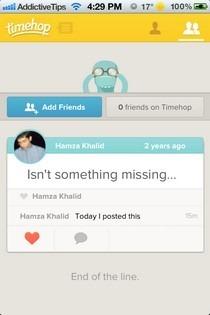 Timehop iOS Friends