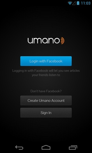 Umano-Android-Login