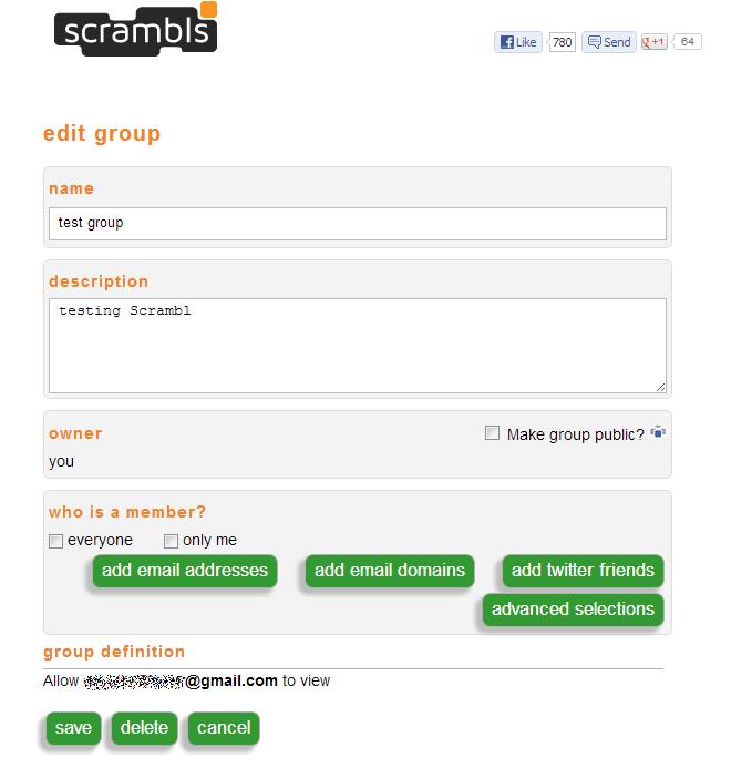 scrambls groups