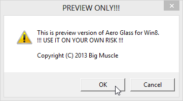 Aero Glass for Win8 Transparency Risk