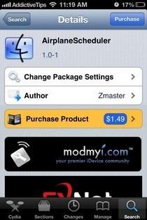 AirplaneScheduler Cydia