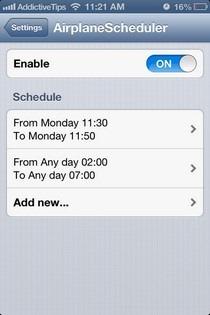 AirplaneScheduler iOS