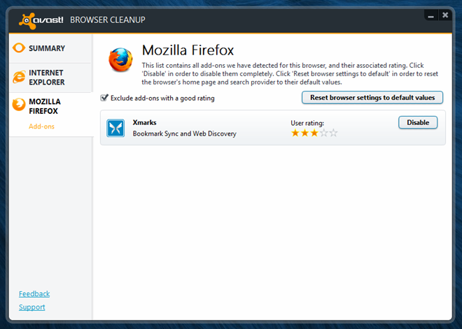 Avast Browser Cleanup_Add ons
