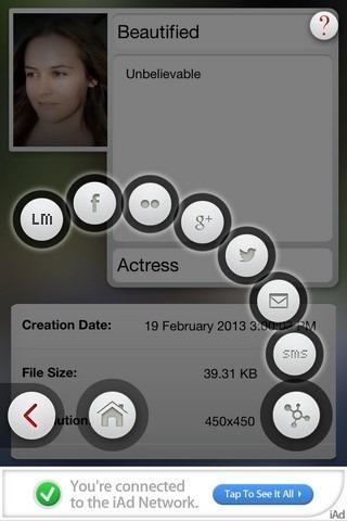 Beauty Box iOS Share