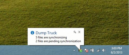 Dump Truck_Sync Notification