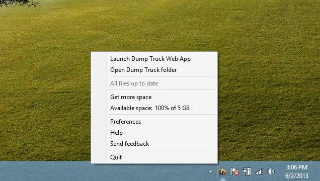 Dump Truck_Systen Tray Icon