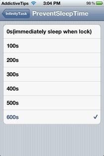 InfinityTask iOS SleepTme