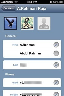 OneContact iOS Contact