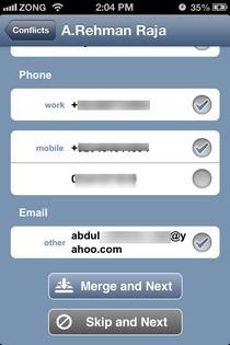 OneContact iOS Merge