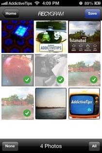Recygram iOS Select