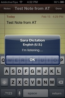 Sara Dictation Keyboard Listen