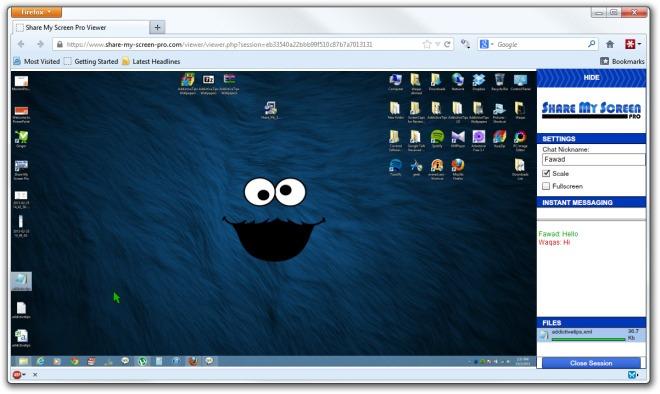 Share My Screen Pro Viewer - Mozilla Firefox