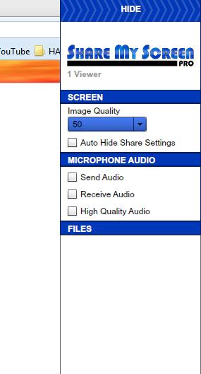 Share My Screen Pro_Options