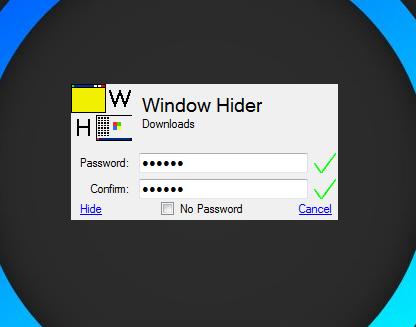 Window Hider Password