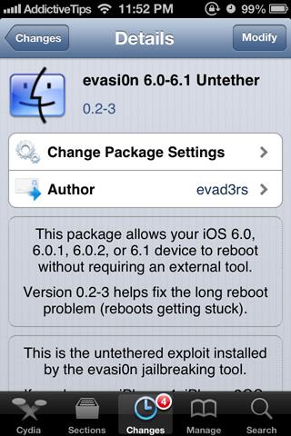 evasi0n-6.0-6.1-Untethered jailbreak long boot fix