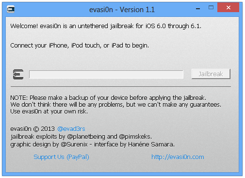 evasi0n - Version 1.1