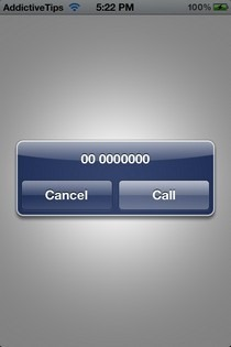 iPhone Call Prompt