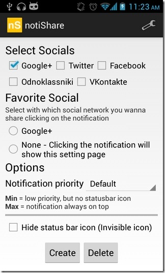 notiShare-Android-Settings