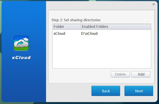 xCloud_sharing directory
