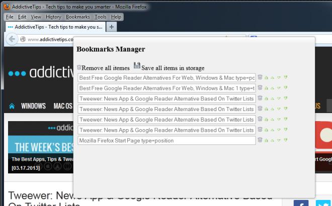 Advanced bookmaks Add-on