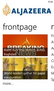 Al Jazeera WP Frontpage