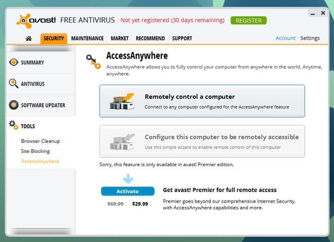 Avast 8_Access Anywhere