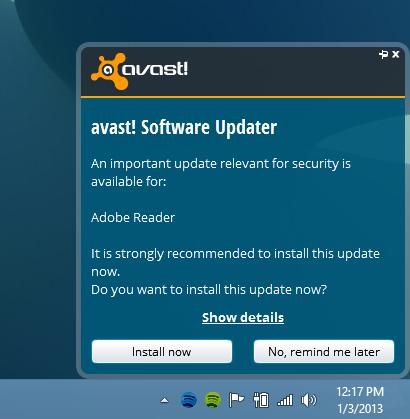 Avast 8_Software Updater