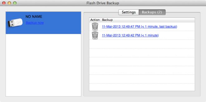 Flash Drive Backup backups