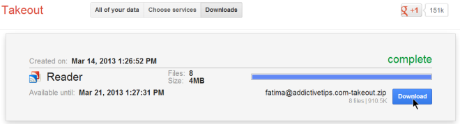 Google takeout download