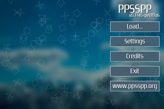 PPSSPP iOS Home