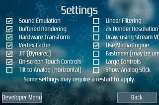 PPSSPP iOS Settings