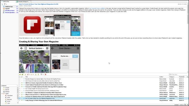QuiteRSS_Full Screen