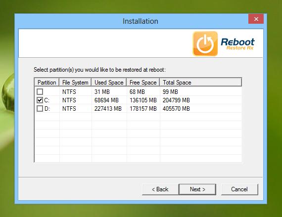 Reboot Restore Rx_Drive