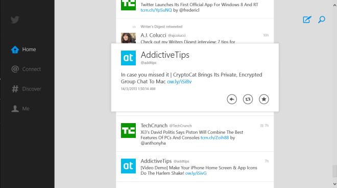 Twitter for Windows 8 Home
