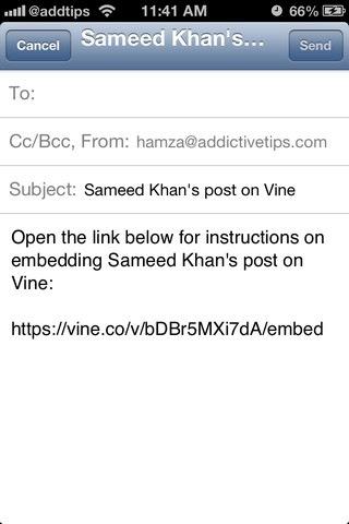 Vine Email