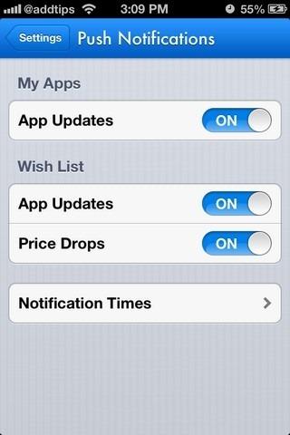 AppShopper Social iOS Push