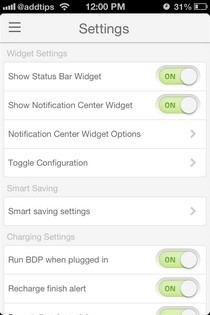 BatteryDoctorPro iOS Settings
