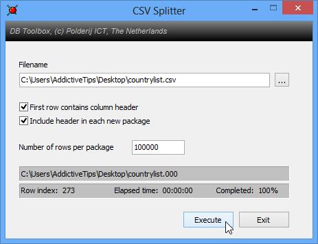 CSV Splitter