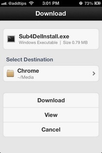 Chrome Downloader iOS Download Page