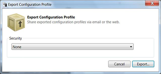 Export-configuration-profile